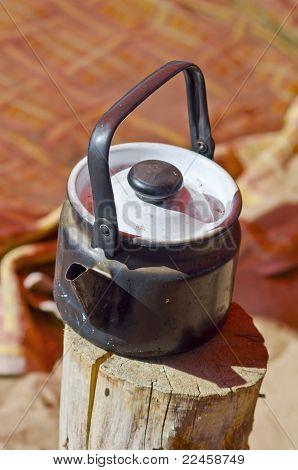 Sooty teapot