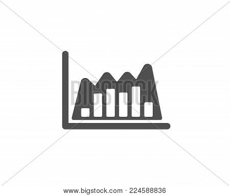 Investment chart simple icon. Economic graph sign. Stock exchange symbol. Business finance. Quality design elements. Classic style. Vector