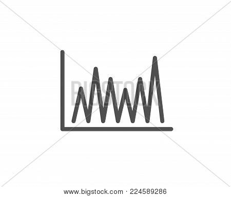 Line chart icon. Financial growth graph sign. Stock exchange symbol. Quality design element. Editable stroke. Vector