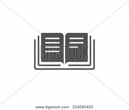 Book simple icon. Education symbol. Instruction or E-learning sign. Quality design elements. Classic style. Vector