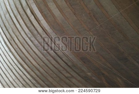 curved and gray concrete layers - abstract background