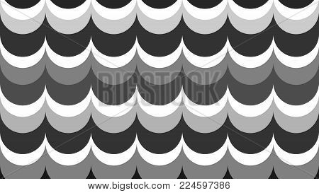 fashionable, stylish, geometric, wavy background in shades of gray for interior, design, advertising, covers, walls