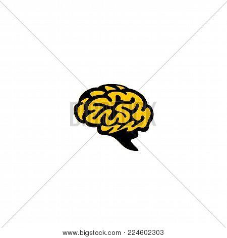 human brain on white background vector illustration design.
