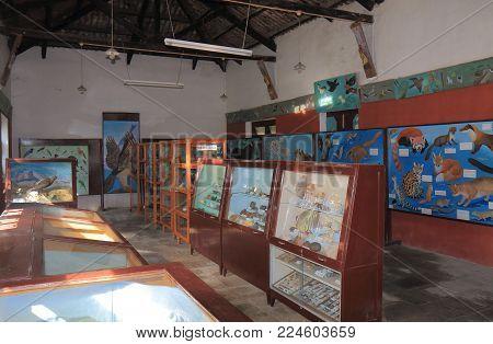 Pokhara Nepal - November 8, 2017: Annapurna Natural History Museum In Pokhara Nepal.