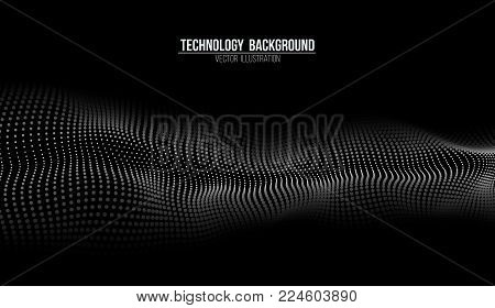 Abstract technology background. Background 3d grid.Cyber technology Ai tech wire network futuristic wireframe. Artificial intelligence . Cyber security background