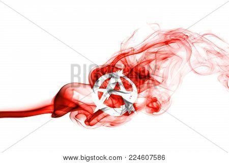 Anarchy smoke flag isolated on a white background
