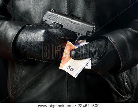 Bandit With Gun And Money