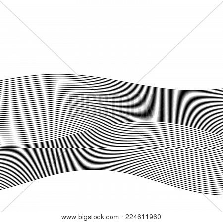 Design Element Wave Many Parallel Lines Wavy Form22
