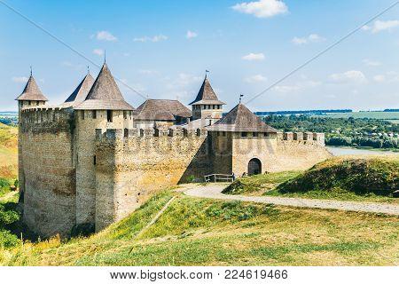 Medieval fortress in the Khotyn town West Ukraine. The castle is the seventh Wonder of Ukraine. June 27.2015  Khotyn. Ukraine