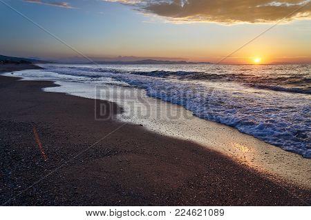 Sunset On The Island Of Corfu, Greece