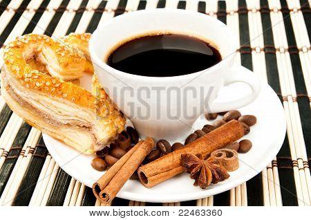 cookies, coffee and cinnamon