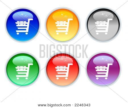 Six Color Crystal Sho Cart Icons And Button