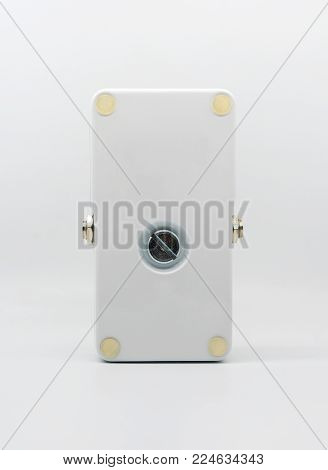White Guitar Pedal Effect, Strompbox, Isolated On White