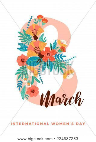 International Women s Day. Vector template for card, poster, flyer and other users