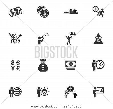 Business icons set, emblems and smbols for web design