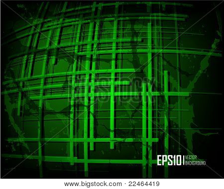 Green scratch grunge background
