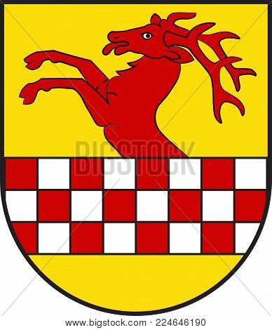 Coat of arms of Herscheid is a municipality in the southern Maerkischer Kreis, in North Rhine-Westphalia, Germany. Vector illustration