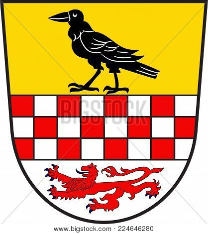 Coat of arms of Kierspe is a town in the district Maerkischer Kreis, in North Rhine-Westphalia, Germany. Vector illustration