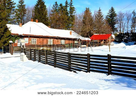 Landscape In Poiana Brasov, Winter And Touristic Station, 12 Km From Brasov, A Town Situated In Tran