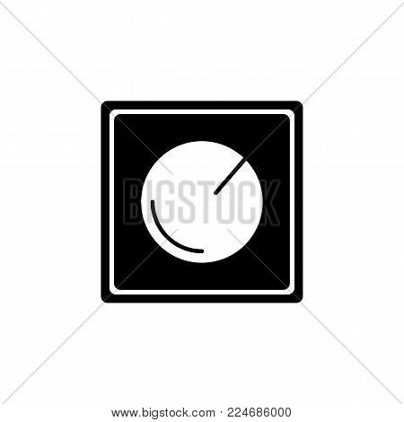Dimmer electric concept control icon onwhite background