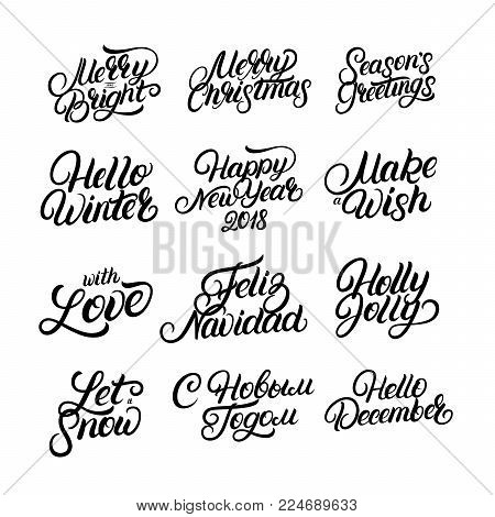 Set Christmas New Vector & Photo (Free Trial) | Bigstock