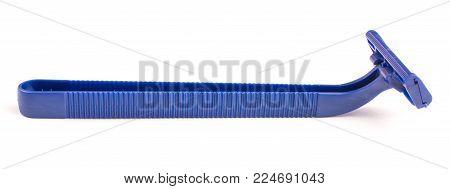 blue razor, machine tool, isolated on white background