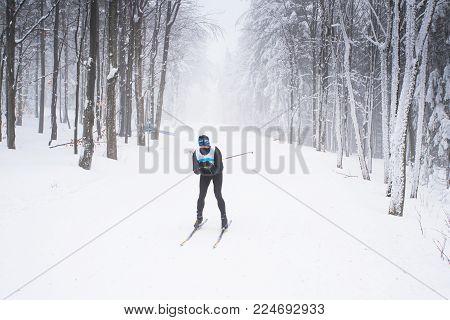 Ski Resort Before Professional Race