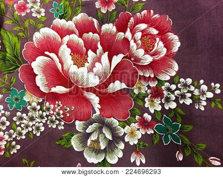 clothes texture - floral fabric surface textures