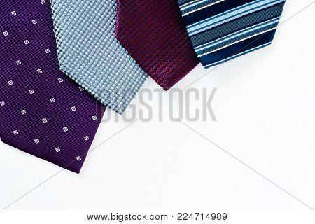Closeup of necktie