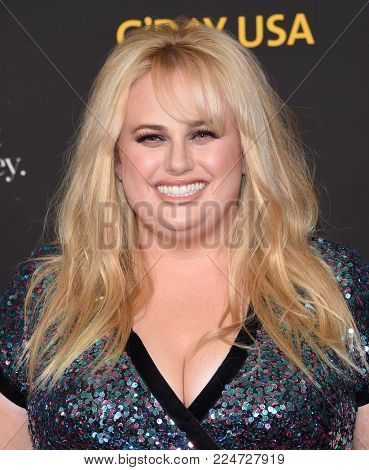 LOS ANGELES - JAN 27:  Rebel Wilson arrives for the G'Day USA Gala 2018 on January 27, 2018 in Los Angeles, CA