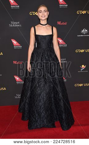 LOS ANGELES - JAN 27:  Lucy Fry arrives for the G'Day USA Gala 2018 on January 27, 2018 in Los Angeles, CA
