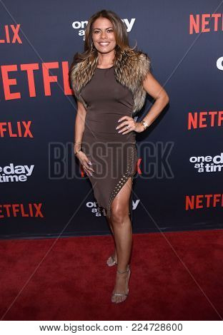 LOS ANGELES - JAN 24:  Lisa Vidal arrives for Netflix's 'One Day At A Time' Season 2 Premiere on January 24, 2018 in Hollywood, CA