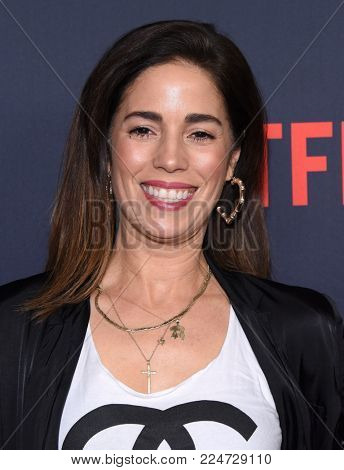 LOS ANGELES - JAN 24:  Ana Ortiz arrives for Netflix's 'One Day At A Time' Season 2 Premiere on January 24, 2018 in Hollywood, CA