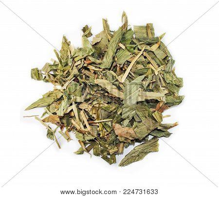 Herba Lophateri, chinese herbal medicine isolated. Dan Zhu Ye