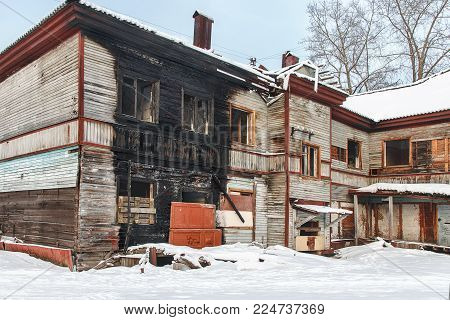 The mage a house after a fire