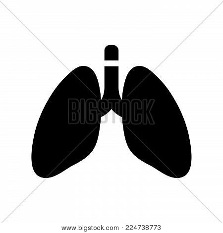 Lungs Icon Isolated On White Background. Lungs Icon Modern Symbol For Graphic And Web Design. Lungs