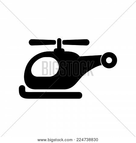 Helicopter Icon Isolated On White Background. Helicopter Icon Modern Symbol For Graphic And Web Desi