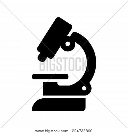 Microscope Icon Isolated On White Background. Microscope Icon Modern Symbol For Graphic And Web Desi