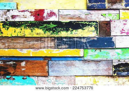 Abstract grunge wooden colorful horisontal texture. Can be used as background