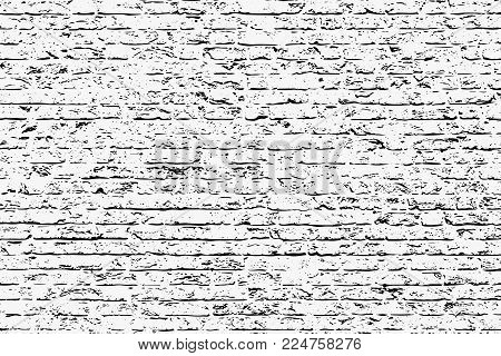 Brick Wall silhouette pattern. Brick grunge style background. Vintage style with detail grunge. Monochrome retro scratch background.