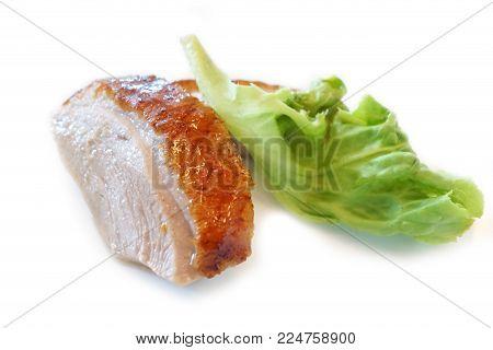 Chinese cuisine food - Peking duck or Beijing roast duck