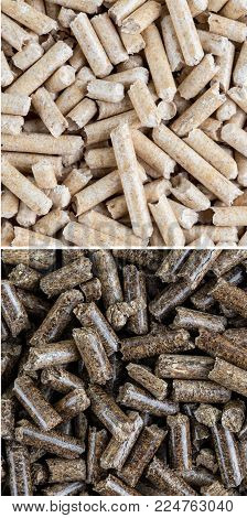 Toilets For Pets, Filler Wood Pine Is Used In The Litter Box. A Variety Of Pressed Sawdust Macro