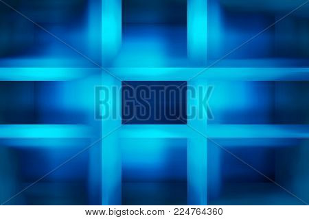 Light blue and dark blue light beams background
