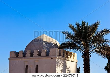 Whitewashed Exterior Of Traditional Domed Building