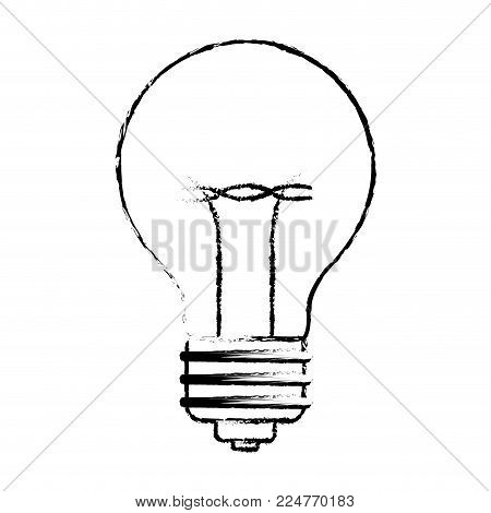 light bulb idea lamp design creative innovation solution vector illustration