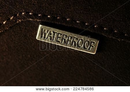 Badge Or Label Waterproof On Leather
