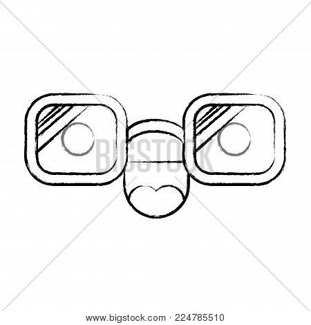 animated glasses cheerful expression cartoon caricature comic graphic fun vector illustration