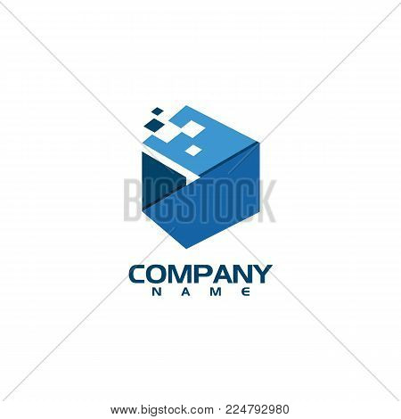 Business corporate letter D logo design vector. Colorful letter D logo vector template. Letter D logo for technology.
