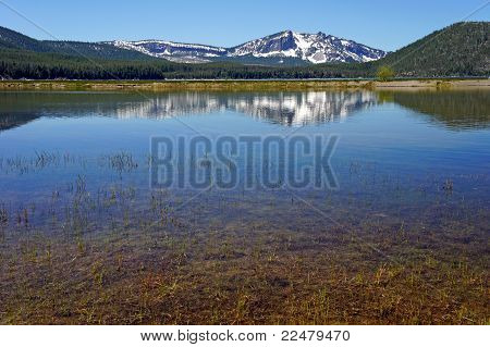 mountain reflected in a lake
