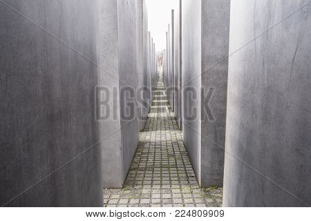 The Memorial To The Murdered Jews Of Europe Also Known As The Holocaust Memorial